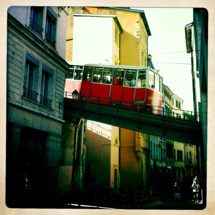 Cable car in Lyon