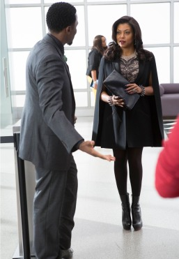 """EMPIRE: Cookie (Taraji P. Henson, R) meets the new head of security, Malcolm (guest star Derek Luke, L) in the """"Out Damned Spot"""" episode of EMPIRE airing Wednesday, Feb. 11 (9:01-10:00 PM ET/PT) on FOX. ©2015 Fox Broadcasting Co. CR: Chuck Hodes/FOX"""